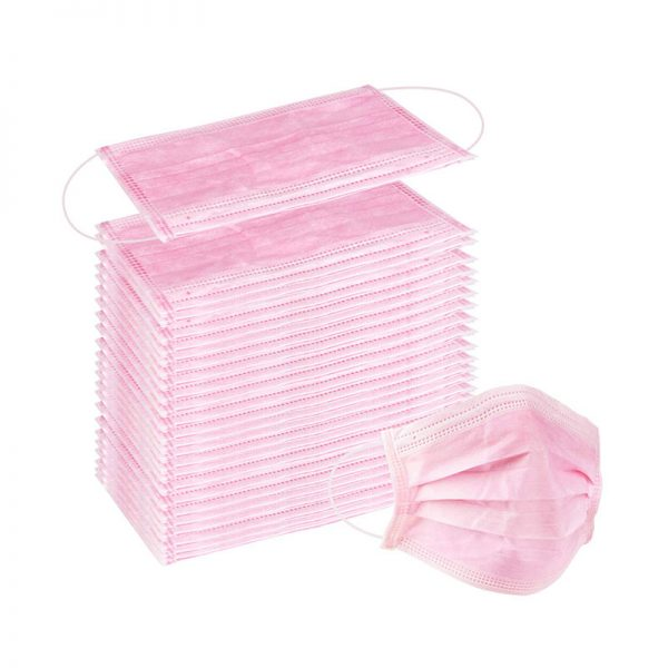 wecolor pink disposable mask