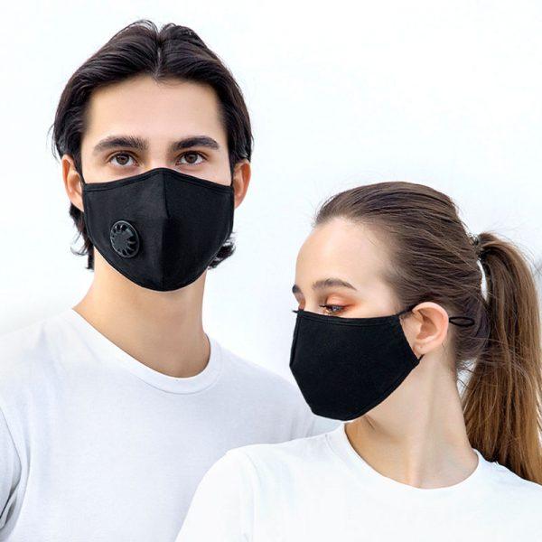 wecolor black cotton mask
