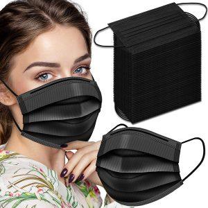 wecolor 200pcs black mask