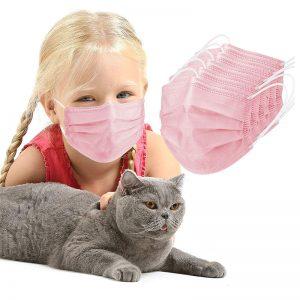 kid pink mask